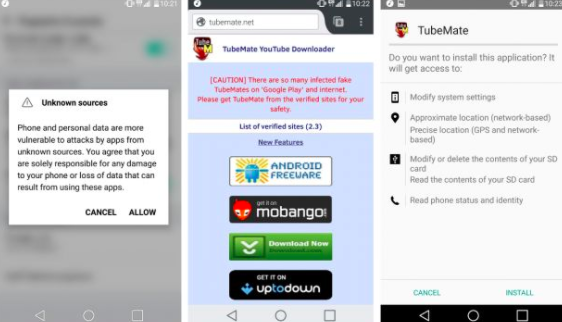Download video YouTube dengan TubeMate for Android