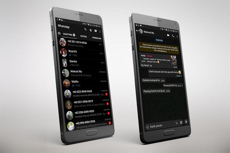 Download Whatsapp Black MOD APK Versi Terbaru 2019