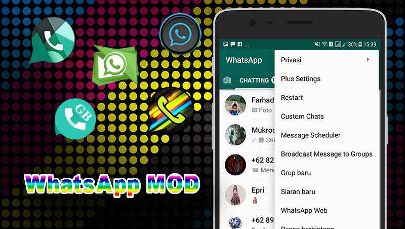 Download aplikasi whatsapp mods