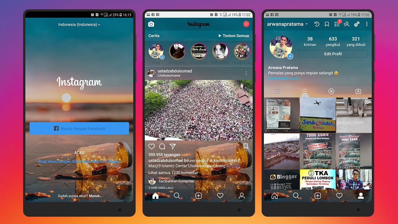 Cara Mengubah Tampilan Instagram Menjadi Transparan