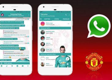 Download Tema Whatsapp Manchester United Based YOWA