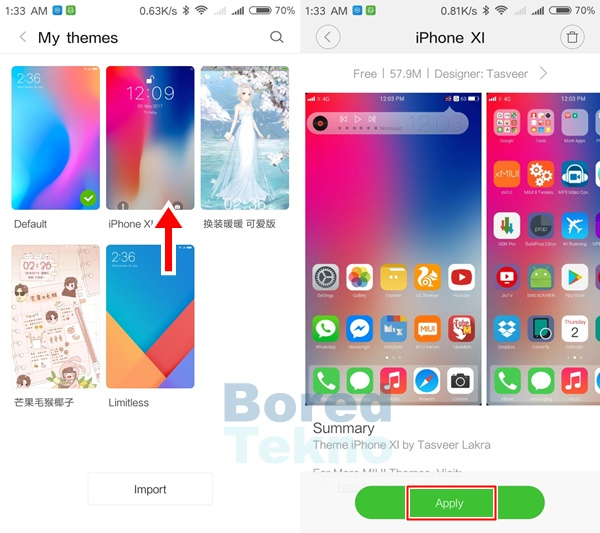 Download Tema iPhone X Xiaomi Mtz Mirip 99% - Boredtekno com