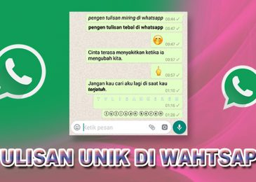 Cara Membuat Tulisan Unik di Whatsapp Tebal Miring dan Berwarna