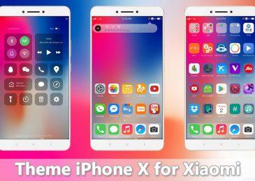 Download Tema iPhone X Xiaomi Mtz Mirip 99% Terbaru 2018
