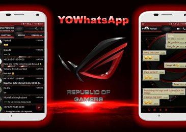Download Tema WhatsApp Republic of Gamers ROG Terbaru