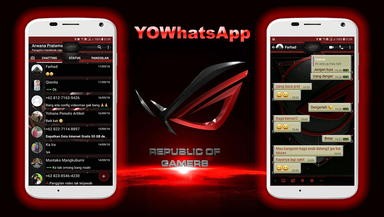 tema whatsapp republic of gamers rog