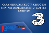 Cara Mengubah Kuota Kendo Tri Menjadi Kuota Reguler 24 Jam Terbaru 2020