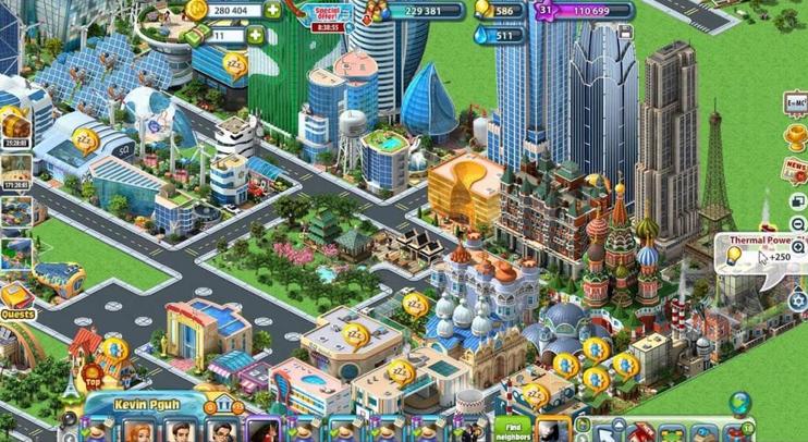 Layar Gameplay Megapolis