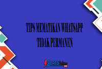 Tips Mematikan Whatsapp Tidak Permanen