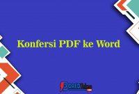 Konfersi PDF ke Word
