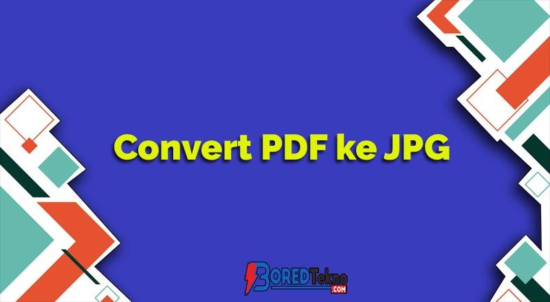 Convert PDF ke JPG