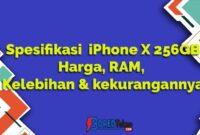 Spesifikasi iPhone X 256GB