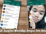 mengubah tema whatsapp dengan foto sendiri